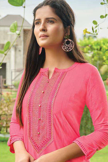 Rangoon Light Line Kurti by Kessi Wholesale Catalog 8 Pcs