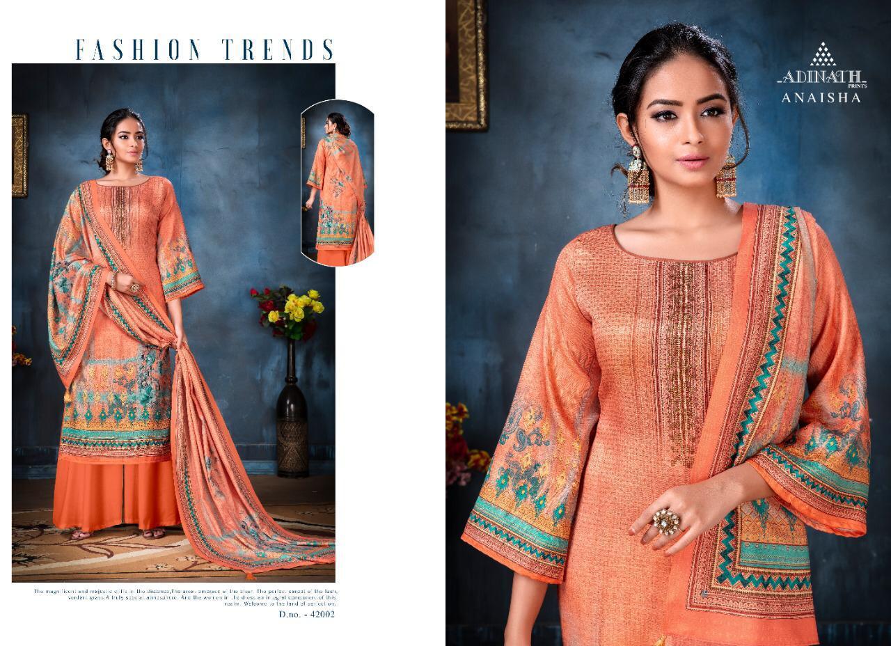 Adinath Anaisha Pashmina Salwar Suit Wholesale Catalog 8 Pcs 1 - Adinath Anaisha Pashmina Salwar Suit Wholesale Catalog 8 Pcs