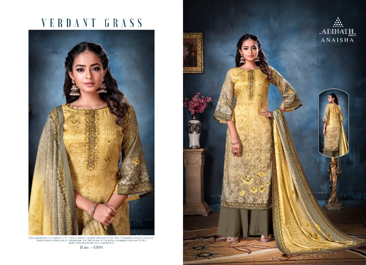 Adinath Anaisha Pashmina Salwar Suit Wholesale Catalog 8 Pcs 2 - Adinath Anaisha Pashmina Salwar Suit Wholesale Catalog 8 Pcs