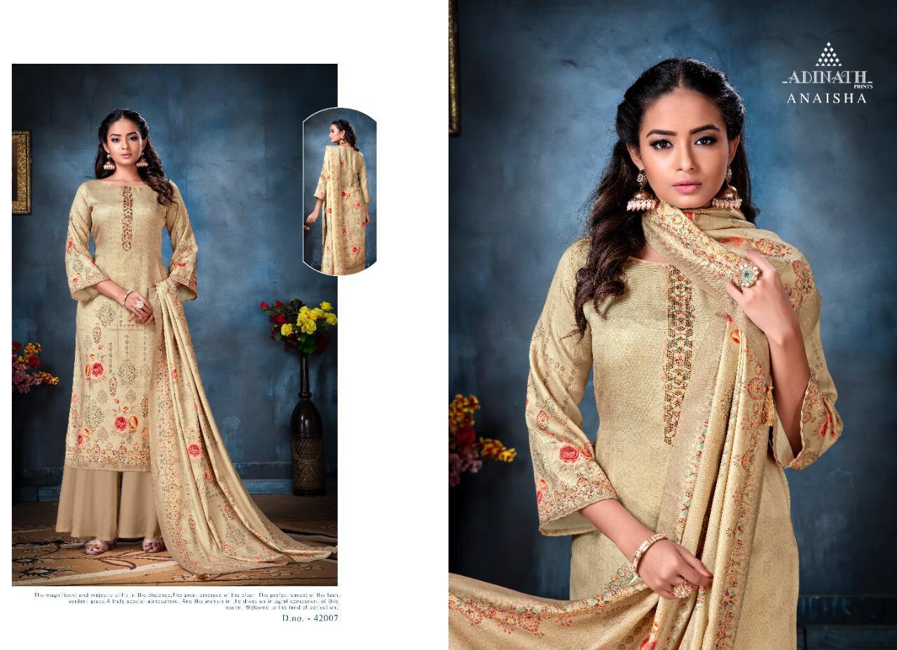 Adinath Anaisha Pashmina Salwar Suit Wholesale Catalog 8 Pcs 6 - Adinath Anaisha Pashmina Salwar Suit Wholesale Catalog 8 Pcs