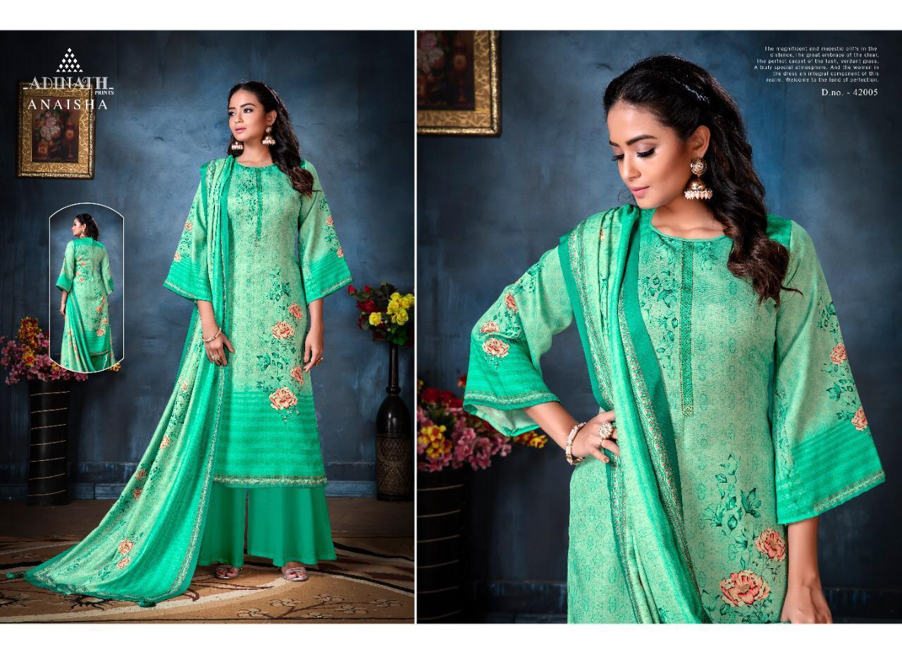Adinath Anaisha Pashmina Salwar Suit Wholesale Catalog 8 Pcs 7 - Adinath Anaisha Pashmina Salwar Suit Wholesale Catalog 8 Pcs