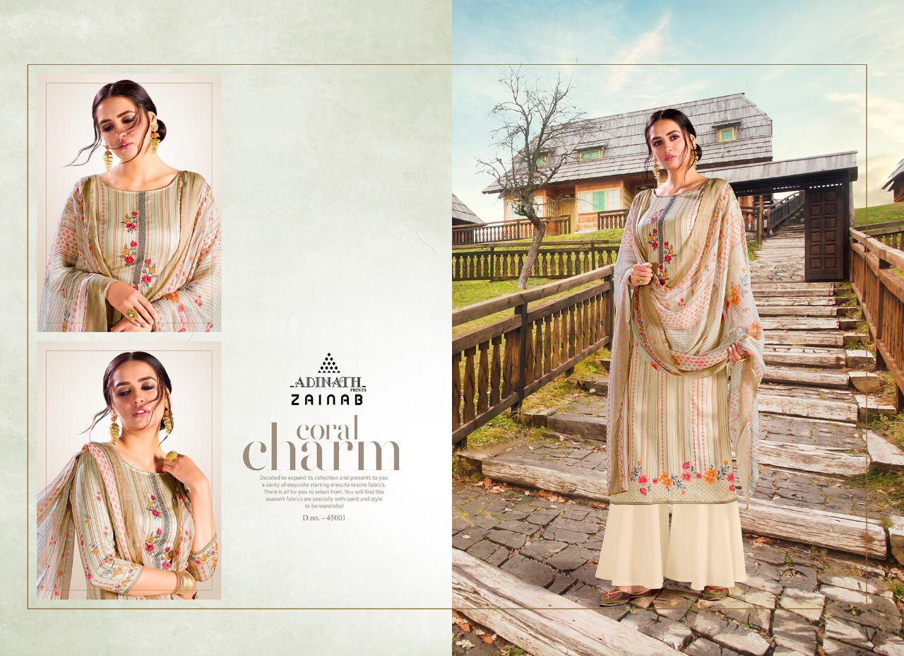 Adinath Zainab Salwar Suit Wholesale Catalog 6 Pcs 2 - Adinath Zainab Salwar Suit Wholesale Catalog 6 Pcs