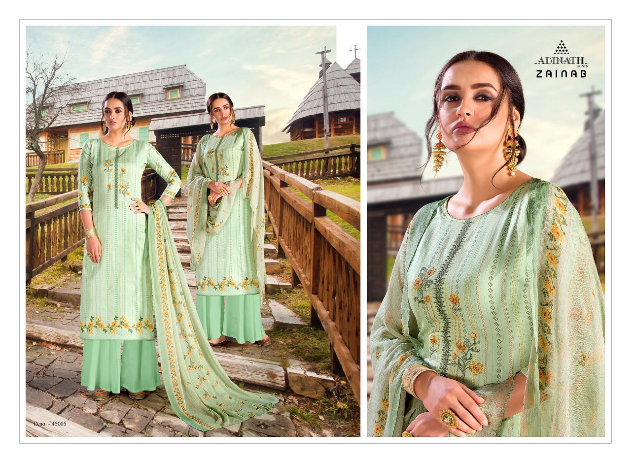 Adinath Zainab Salwar Suit Wholesale Catalog 6 Pcs 8 - Adinath Zainab Salwar Suit Wholesale Catalog 6 Pcs