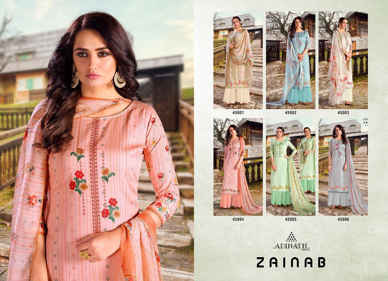 Adinath Zainab Salwar Suit Wholesale Catalog 6 Pcs 9 - Adinath Zainab Salwar Suit Wholesale Catalog 6 Pcs
