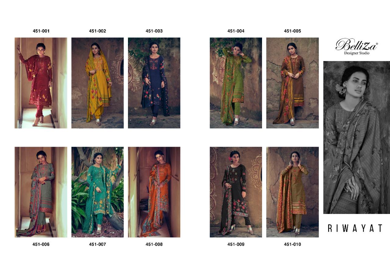 Belliza Riwayat Pashmina Salwar Suit Wholesale Catalog 10 Pcs 19 - Belliza Riwayat Pashmina Salwar Suit Wholesale Catalog 10 Pcs