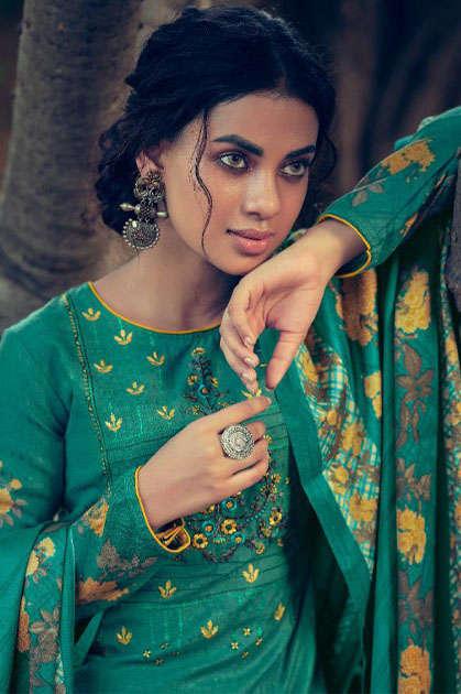 Belliza Riwayat Pashmina Salwar Suit Wholesale Catalog 10 Pcs