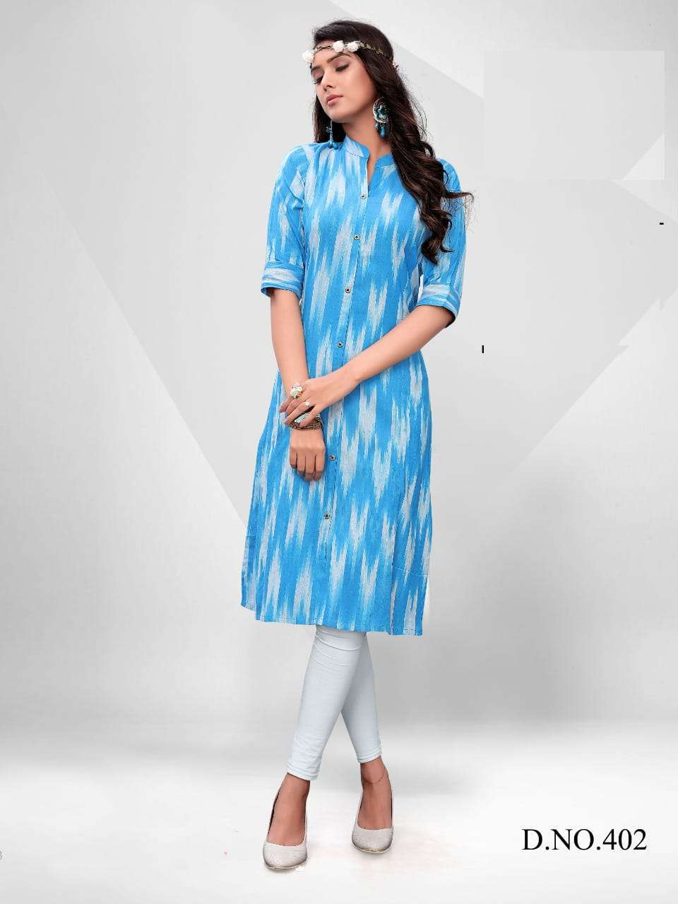 Blue Hills Ikkat World Vol 2 Kurti Wholesale Catalog 8 Pcs 1 1 - Blue Hills Ikkat World Vol 2 Kurti Wholesale Catalog 8 Pcs