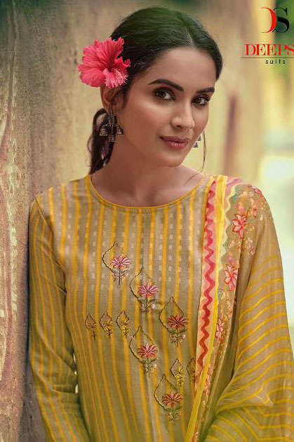 Deepsy Mishka Pashmina Salwar Suit Wholesale Catalog 6 Pcs