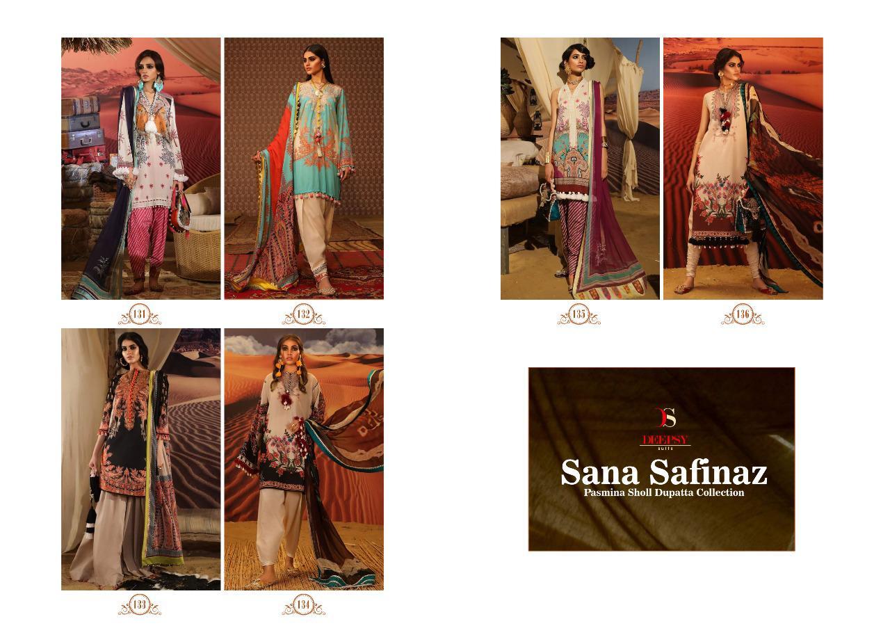 Deepsy Sana Safinaz Pashmina Salwar Suit Wholesale Catalog 6 Pcs 9 - Deepsy Sana Safinaz Pashmina Salwar Suit Wholesale Catalog 6 Pcs