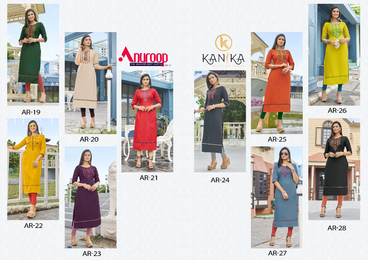 Kanika Anuroop Vol 3 Kurti Wholesale Catalog 10 Pcs 16 - Kanika Anuroop Vol 3 Kurti Wholesale Catalog 10 Pcs