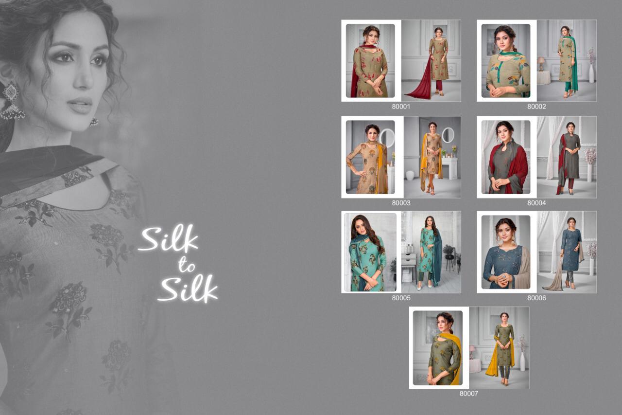 Kapil Trendz Silk to Silk Salwar Suit Wholesale Catalog 7 Pcs 9 - Kapil Trendz Silk to Silk Salwar Suit Wholesale Catalog 7 Pcs