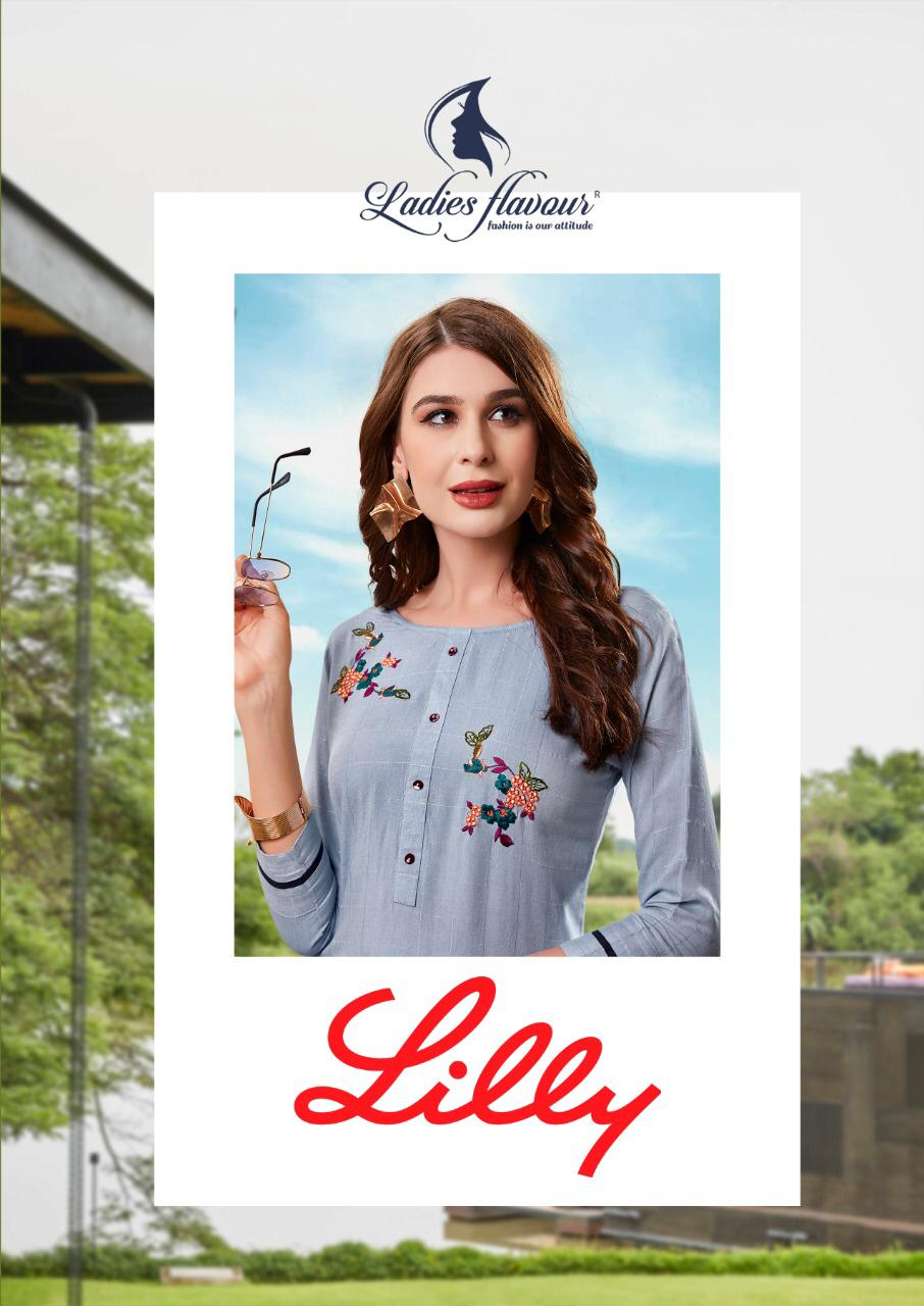 Ladies Flavour Lilly Kurti with Palazzo Wholesale Catalog 8 Pcs 1 - Ladies Flavour Lilly Kurti with Palazzo Wholesale Catalog 8 Pcs