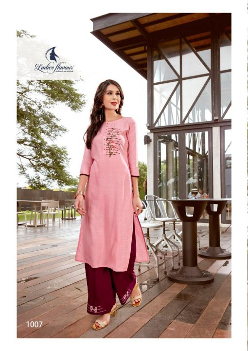 Ladies Flavour Lilly Kurti with Palazzo Wholesale Catalog 8 Pcs 19 510x721 - Ladies Flavour Lilly Kurti with Palazzo Wholesale Catalog 8 Pcs