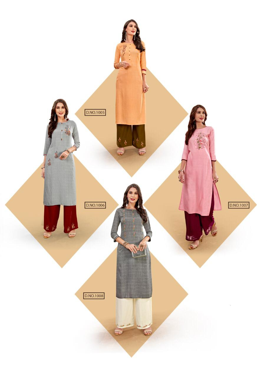 Ladies Flavour Lilly Kurti with Palazzo Wholesale Catalog 8 Pcs 22 - Ladies Flavour Lilly Kurti with Palazzo Wholesale Catalog 8 Pcs