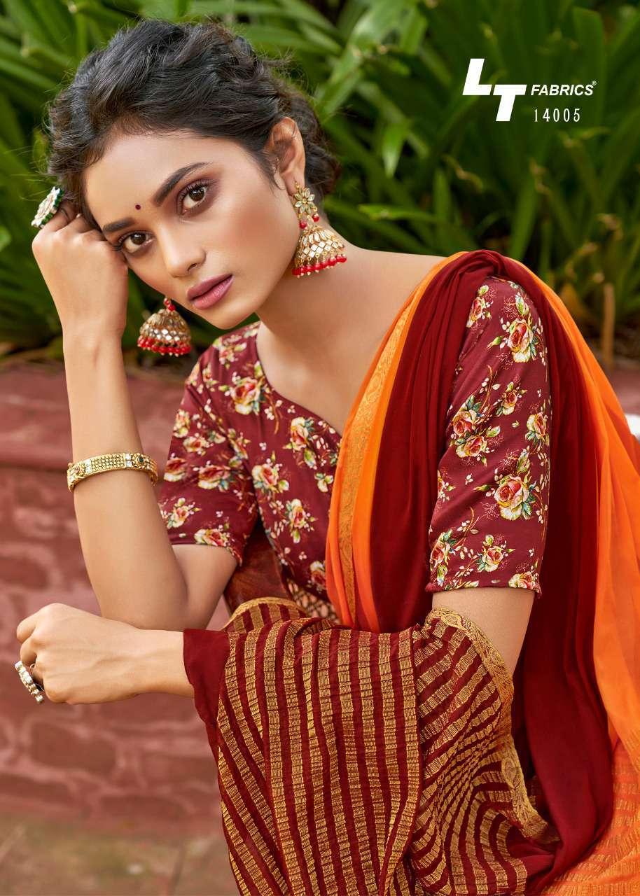 Lt Fabrics Satrupa Double Blouse Saree Sari Wholesale Catalog 10 Pcs 12 - Lt Fabrics Satrupa Double Blouse Saree Sari Wholesale Catalog 10 Pcs