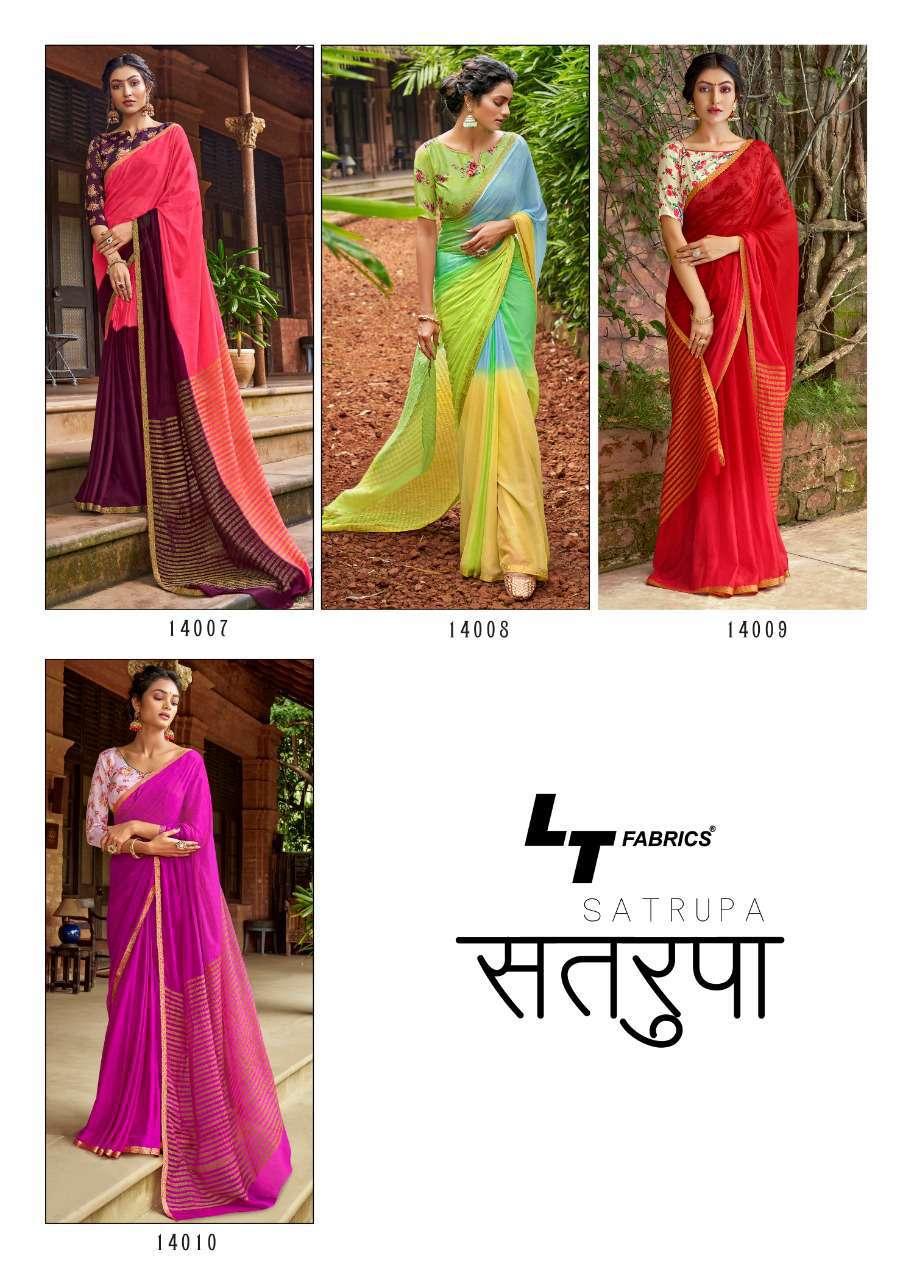 Lt Fabrics Satrupa Double Blouse Saree Sari Wholesale Catalog 10 Pcs 23 - Lt Fabrics Satrupa Double Blouse Saree Sari Wholesale Catalog 10 Pcs