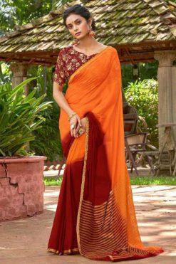 Lt Fabrics Satrupa Double Blouse Saree Sari Wholesale Catalog 10 Pcs