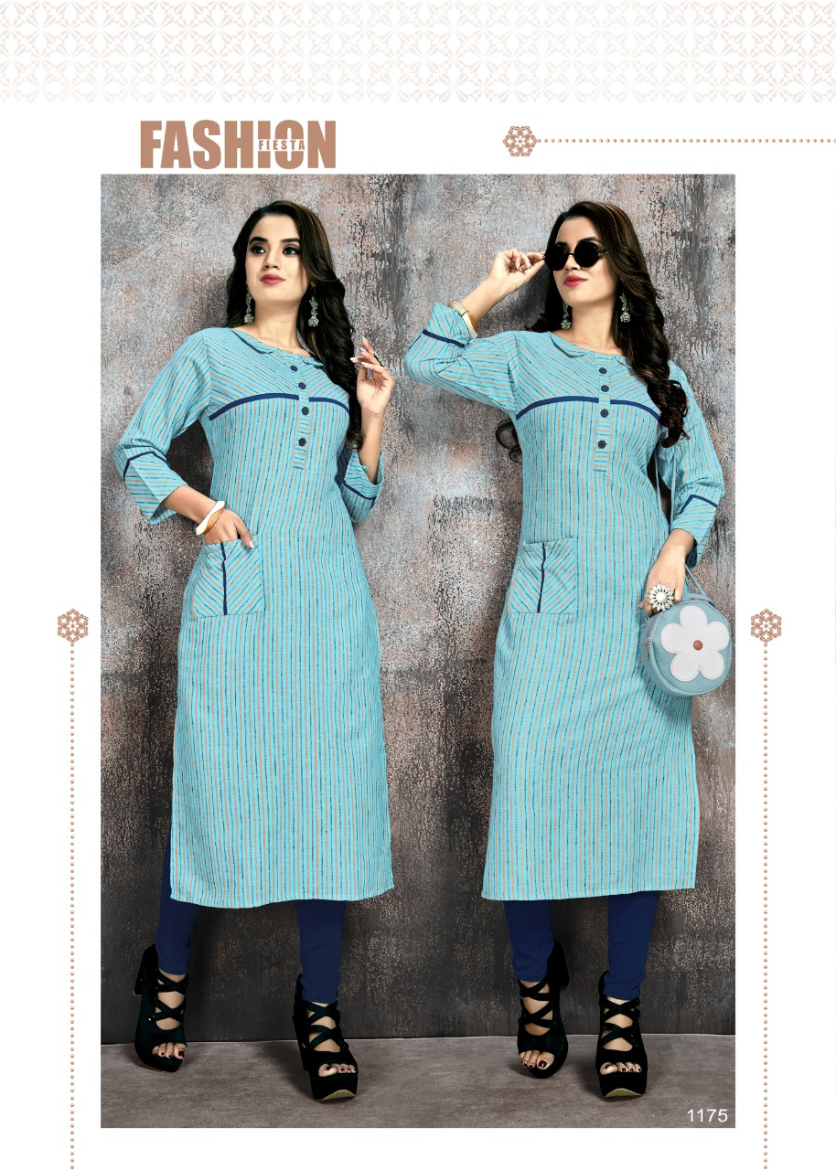 Manya Stripes Kurti Wholesale Catalog 6 Pcs 1 - Manya Stripes Kurti Wholesale Catalog 6 Pcs