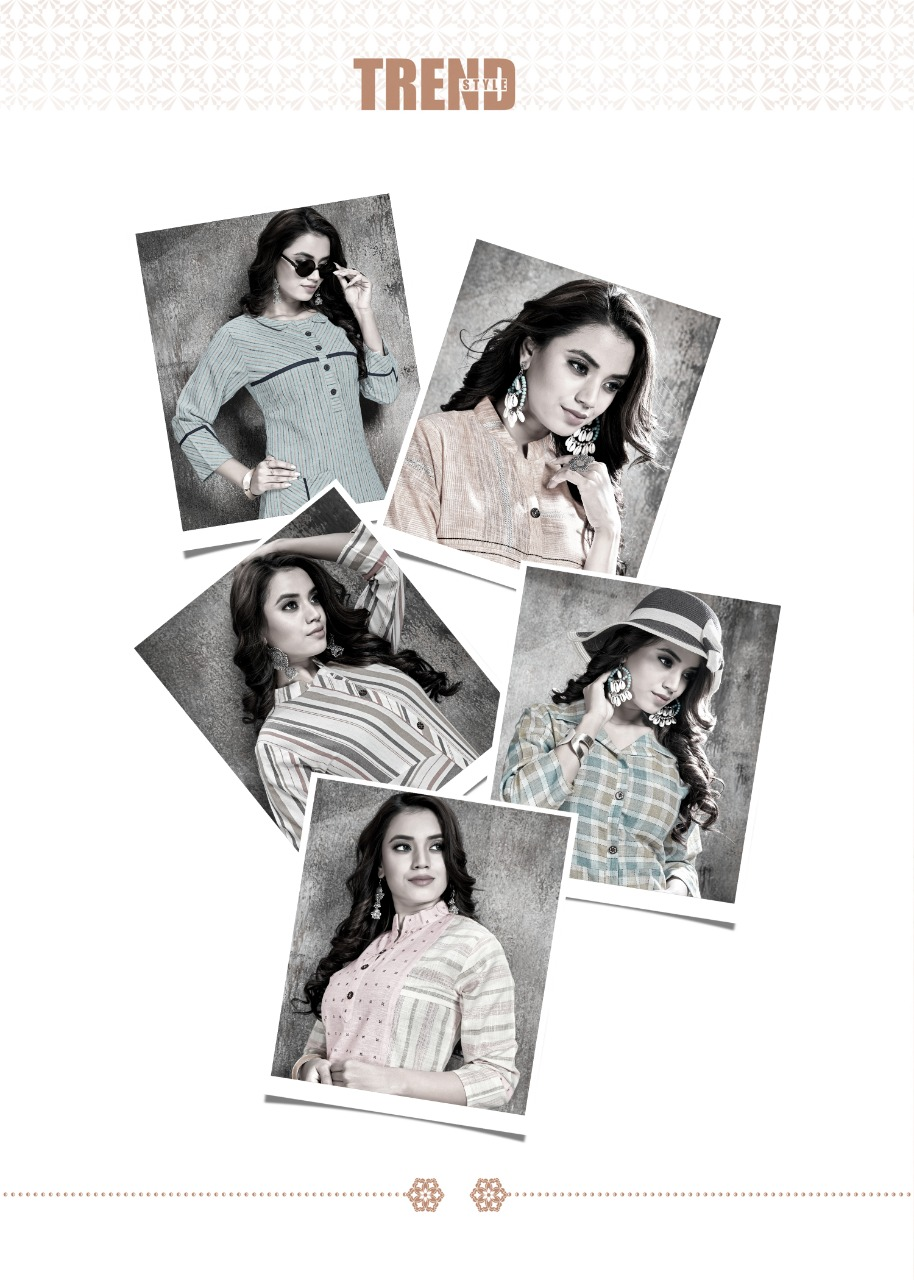 Manya Stripes Kurti Wholesale Catalog 6 Pcs 3 - Manya Stripes Kurti Wholesale Catalog 6 Pcs