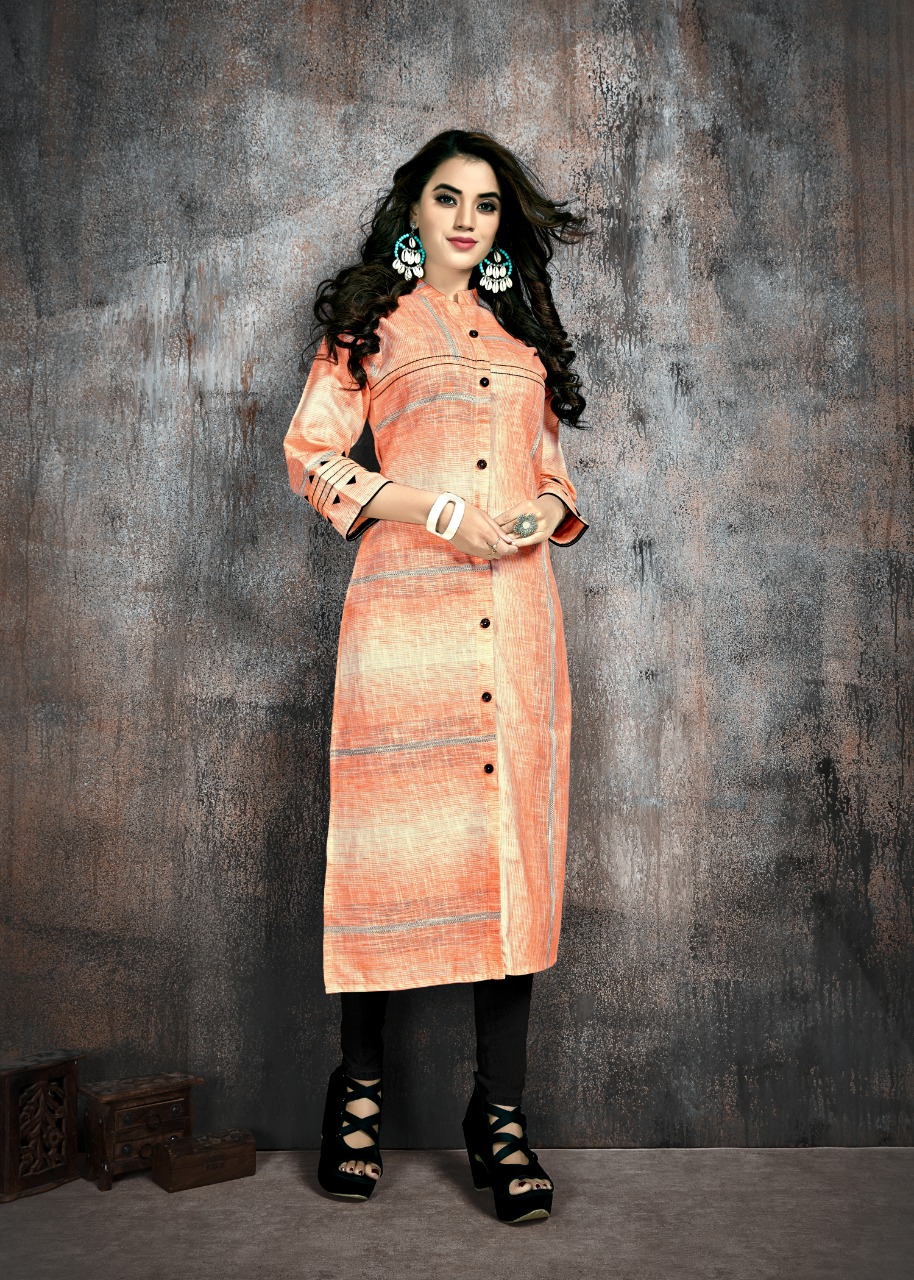 Manya Stripes Kurti Wholesale Catalog 6 Pcs 5 - Manya Stripes Kurti Wholesale Catalog 6 Pcs