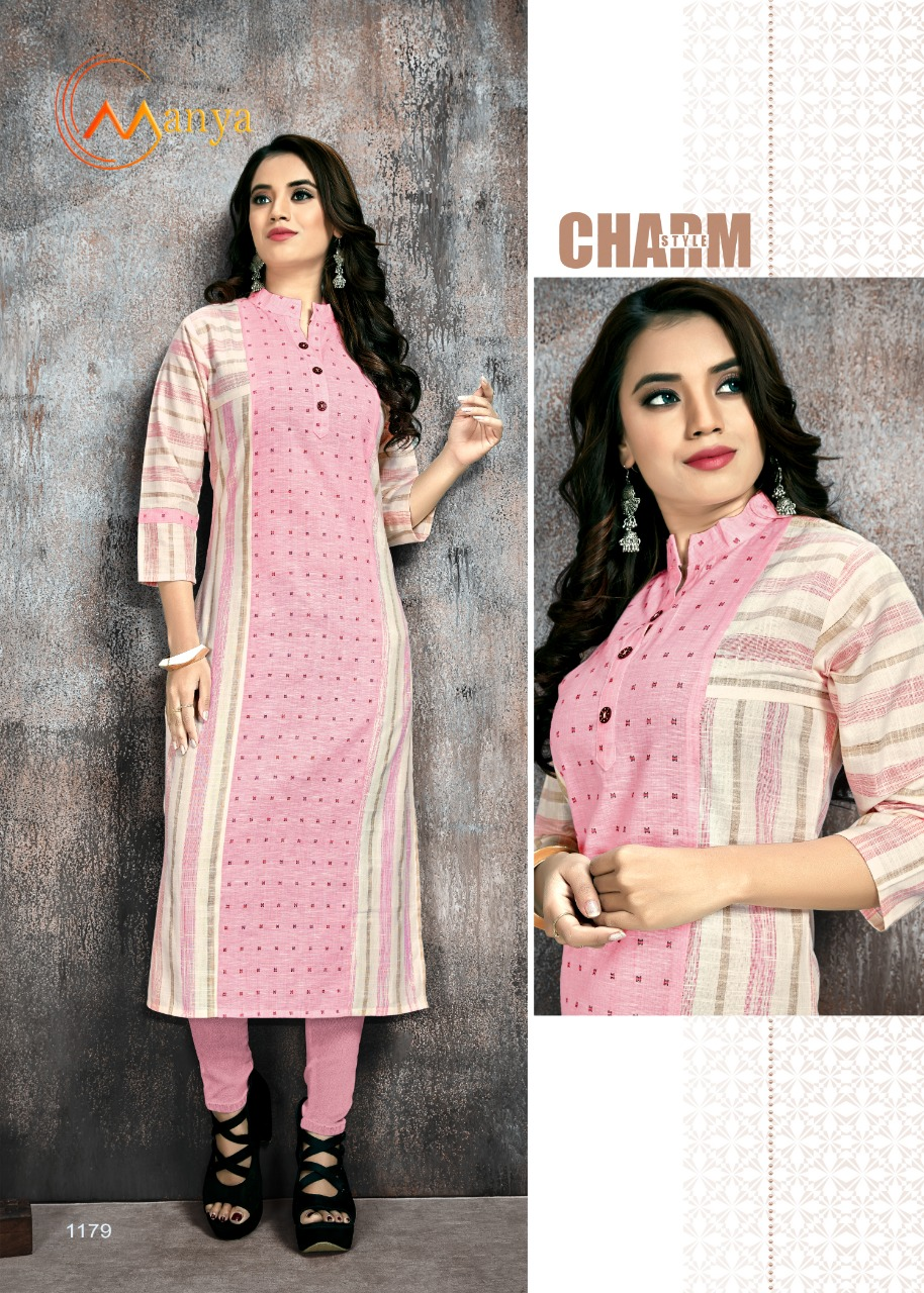 Manya Stripes Kurti Wholesale Catalog 6 Pcs 8 - Manya Stripes Kurti Wholesale Catalog 6 Pcs