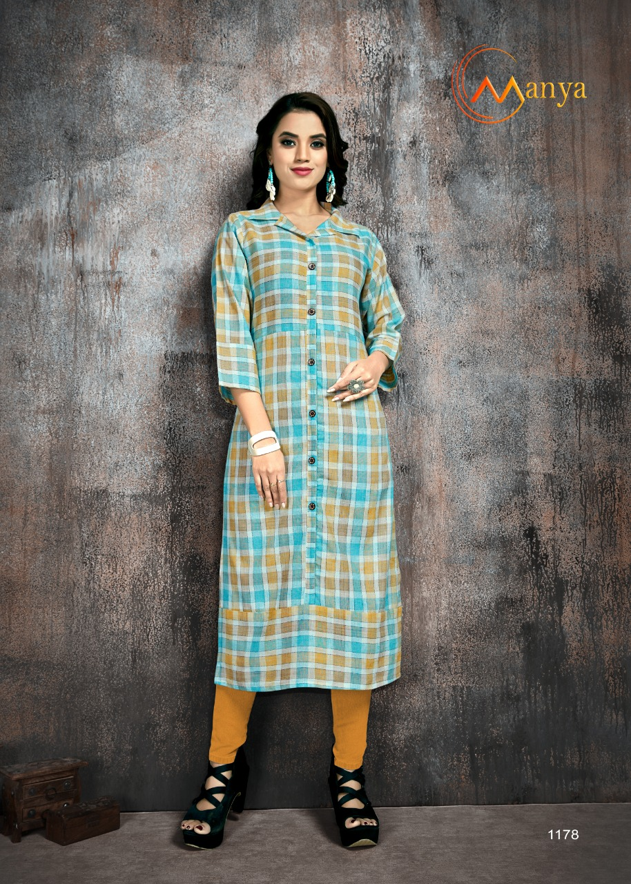 Manya Stripes Kurti Wholesale Catalog 6 Pcs 9 - Manya Stripes Kurti Wholesale Catalog 6 Pcs