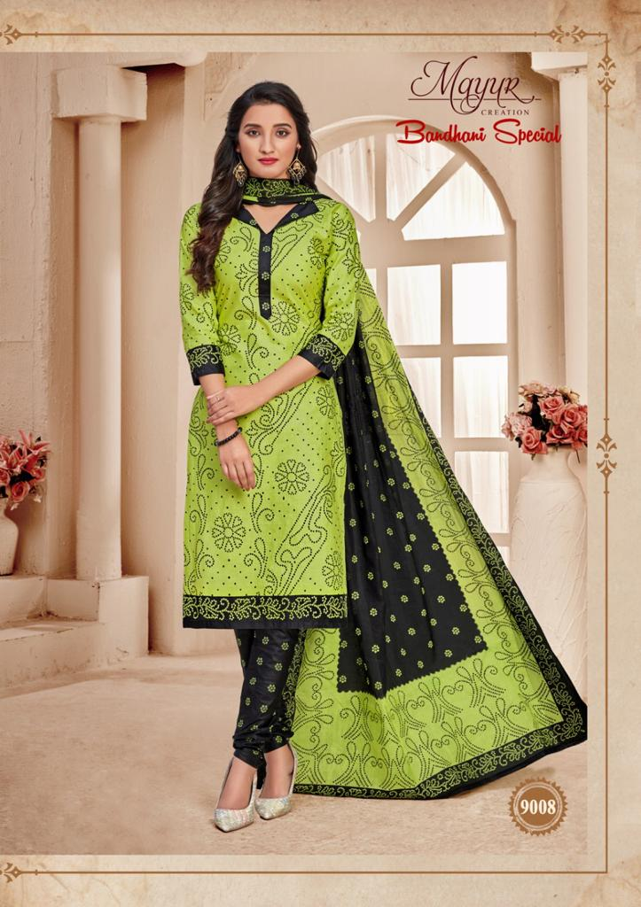 Mayur Bandhani Special Vol 9 Salwar Suit Wholesale Catalog 12 Pcs 1 - Mayur Bandhani Special Vol 9 Salwar Suit Wholesale Catalog 12 Pcs