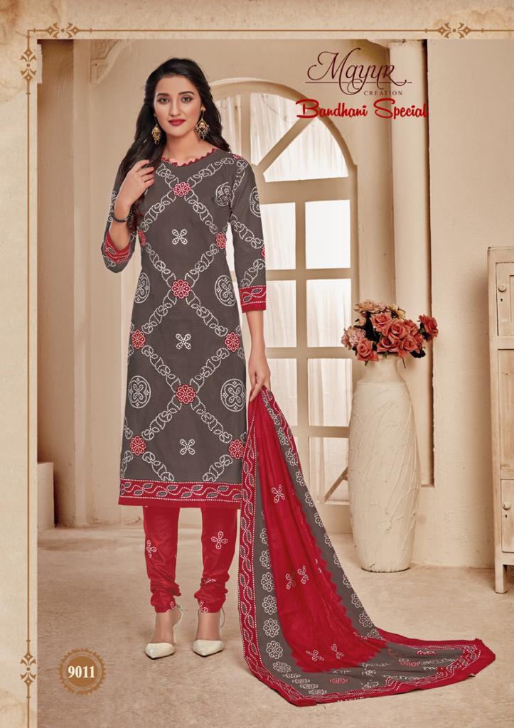 Mayur Bandhani Special Vol 9 Salwar Suit Wholesale Catalog 12 Pcs 10 - Mayur Bandhani Special Vol 9 Salwar Suit Wholesale Catalog 12 Pcs