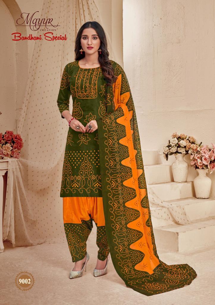 Mayur Bandhani Special Vol 9 Salwar Suit Wholesale Catalog 12 Pcs 13 - Mayur Bandhani Special Vol 9 Salwar Suit Wholesale Catalog 12 Pcs