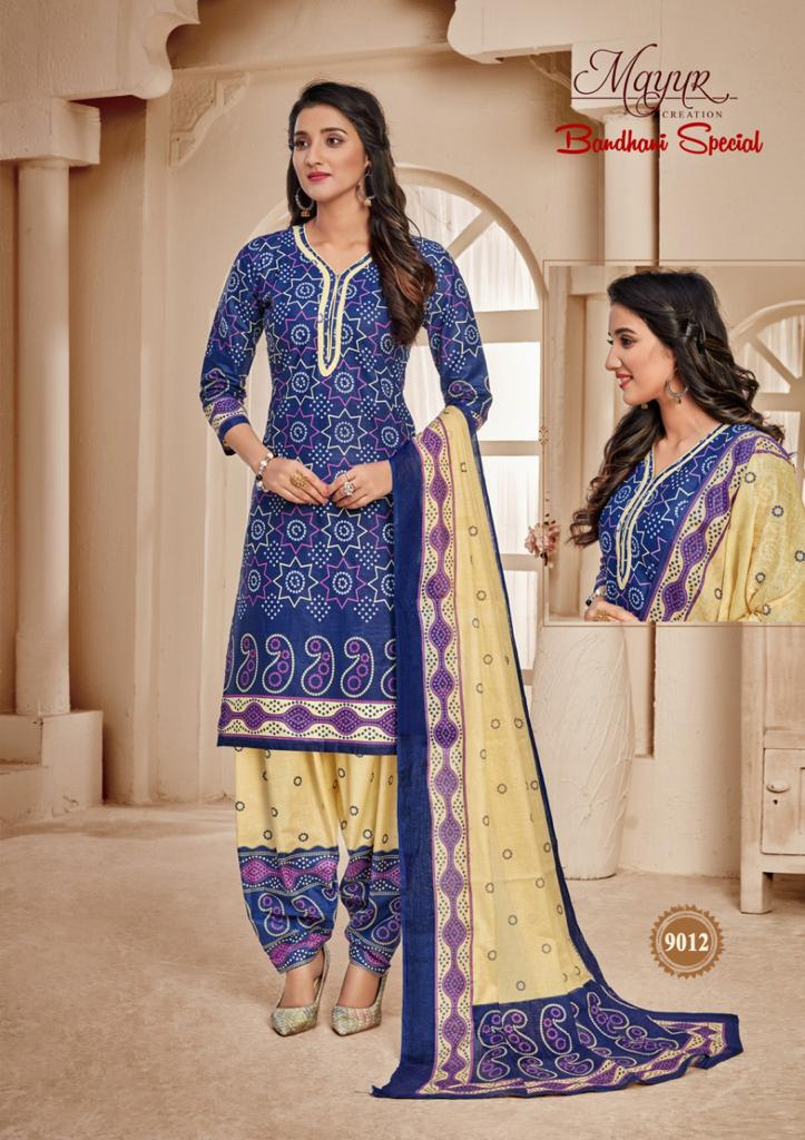 Mayur Bandhani Special Vol 9 Salwar Suit Wholesale Catalog 12 Pcs 14 - Mayur Bandhani Special Vol 9 Salwar Suit Wholesale Catalog 12 Pcs