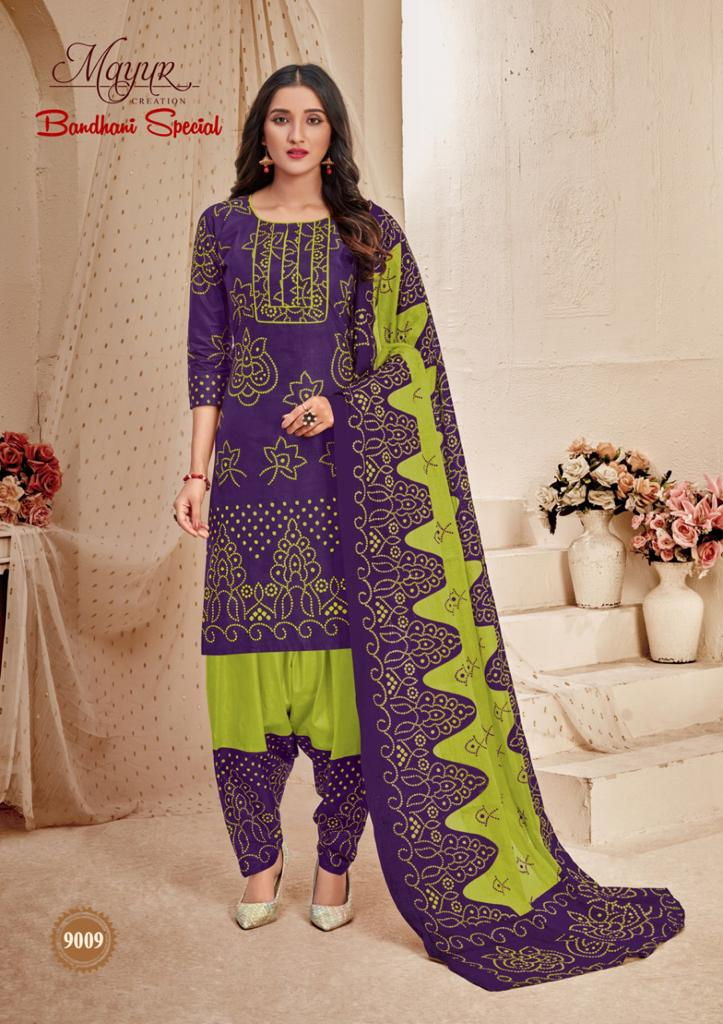 Mayur Bandhani Special Vol 9 Salwar Suit Wholesale Catalog 12 Pcs 3 - Mayur Bandhani Special Vol 9 Salwar Suit Wholesale Catalog 12 Pcs
