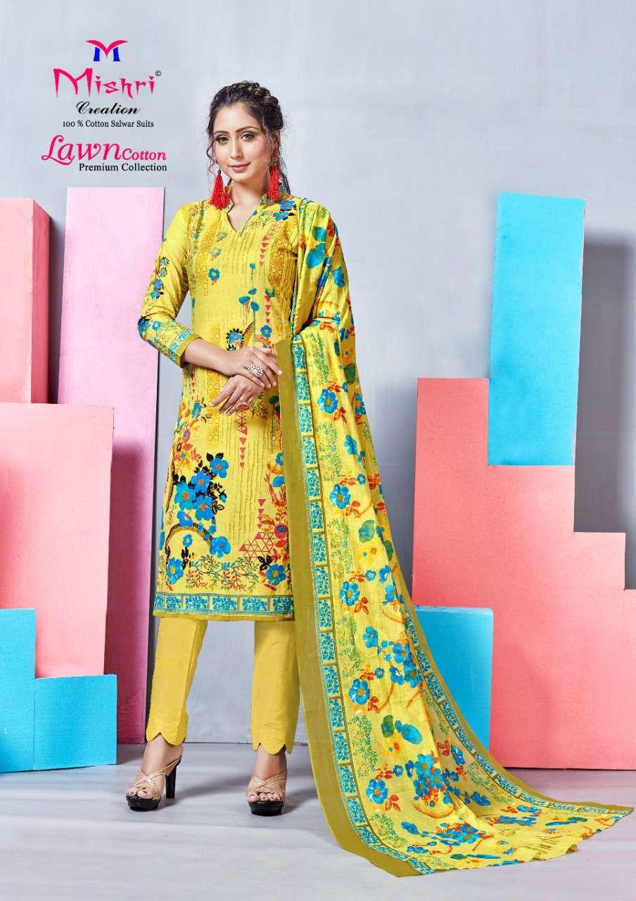Mishri Lawn Cotton Vol 4 Premium Karachi Salwar Suit Wholesale Catalog 10 Pcs 15 - Mishri Lawn Cotton Vol 4 Premium Karachi Salwar Suit Wholesale Catalog 10 Pcs