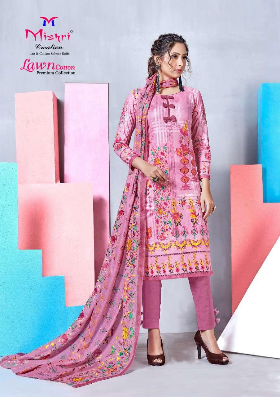 Mishri Lawn Cotton Vol 4 Premium Karachi Salwar Suit Wholesale Catalog 10 Pcs 4 - Mishri Lawn Cotton Vol 4 Premium Karachi Salwar Suit Wholesale Catalog 10 Pcs