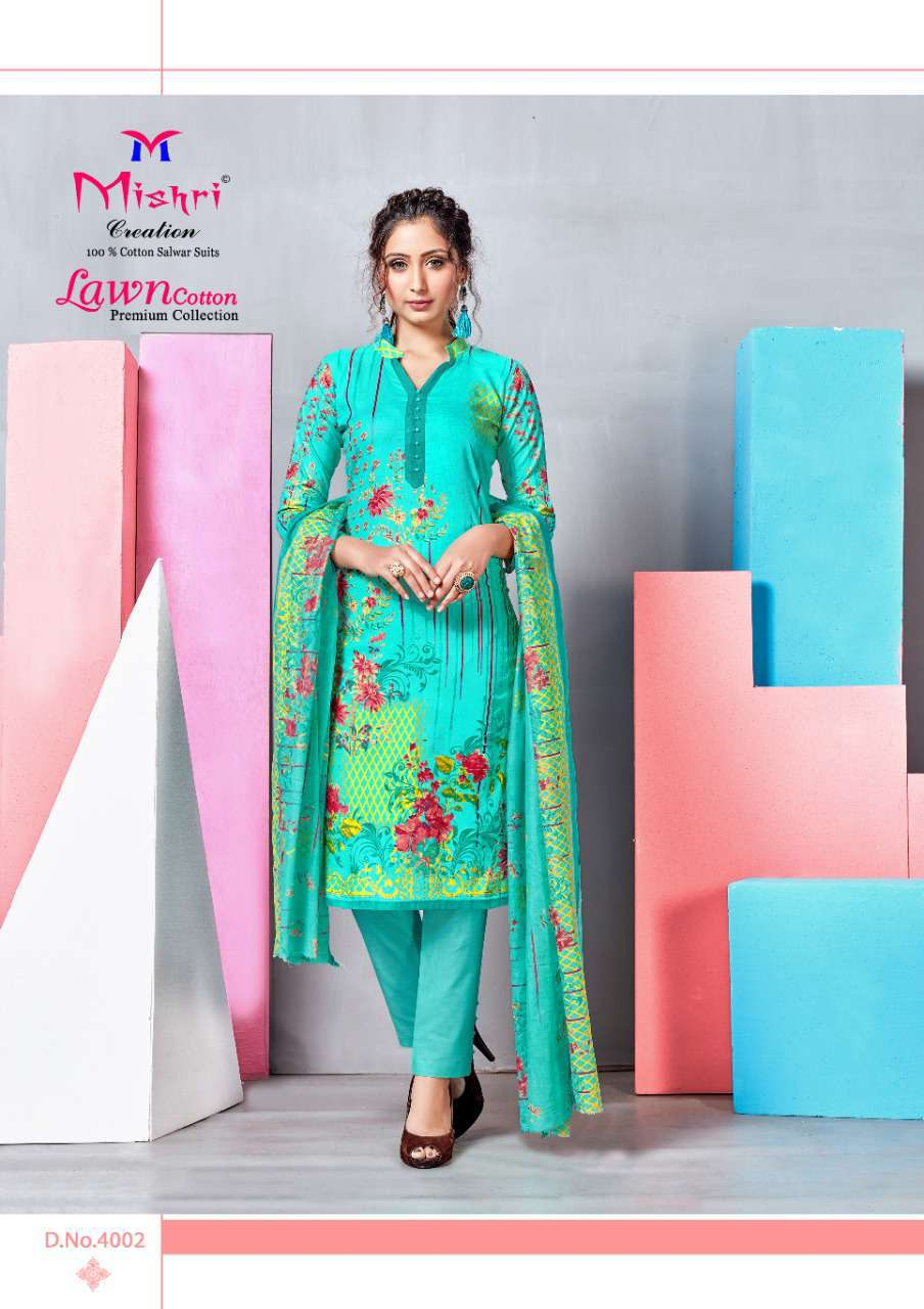 Mishri Lawn Cotton Vol 4 Premium Karachi Salwar Suit Wholesale Catalog 10 Pcs 7 - Mishri Lawn Cotton Vol 4 Premium Karachi Salwar Suit Wholesale Catalog 10 Pcs
