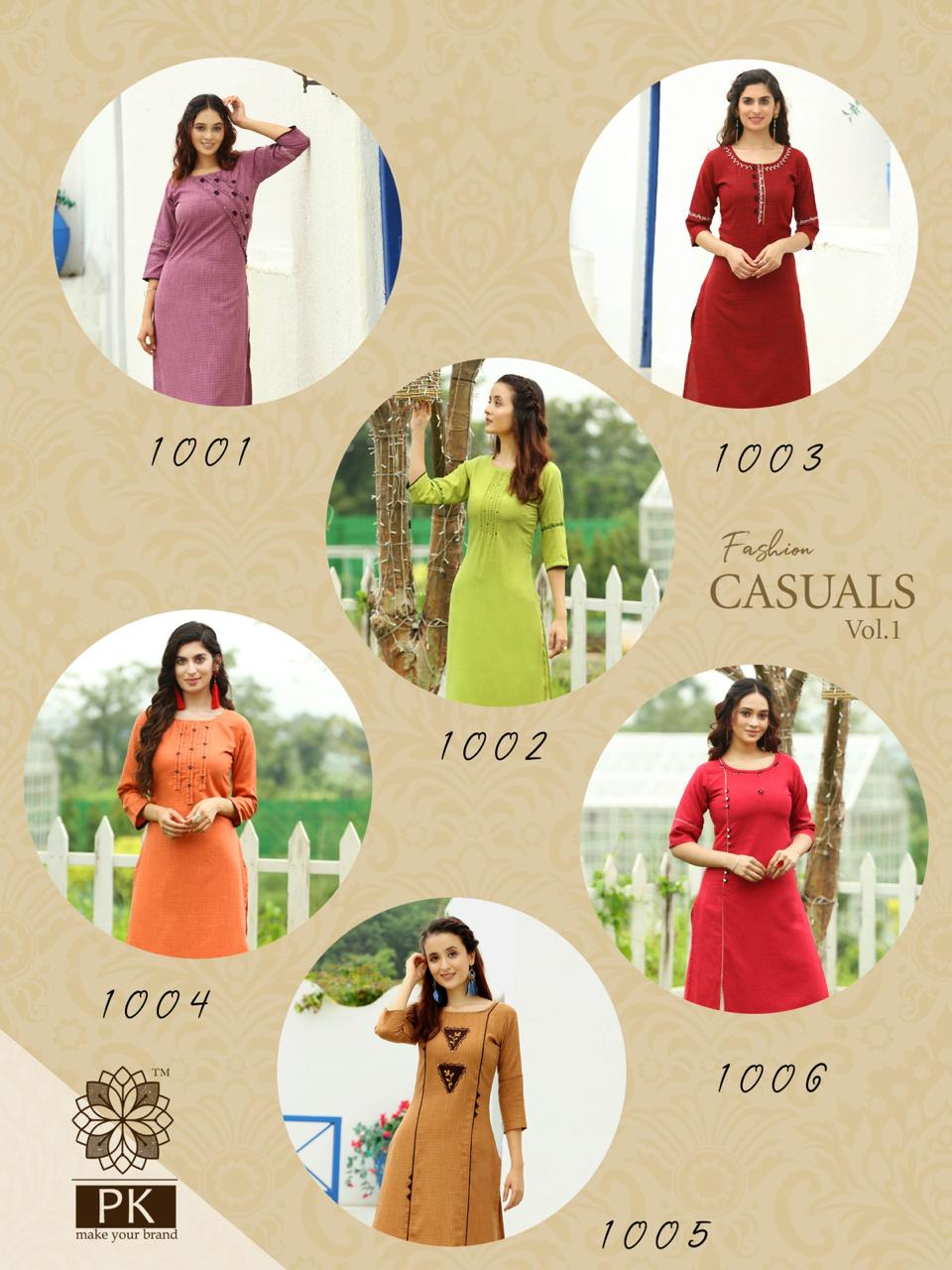 Pk Fashion Casuals Vol 1 Kurti Wholesale Catalog 6 Pcs 12 - Pk Fashion Casuals Vol 1 Kurti Wholesale Catalog 6 Pcs