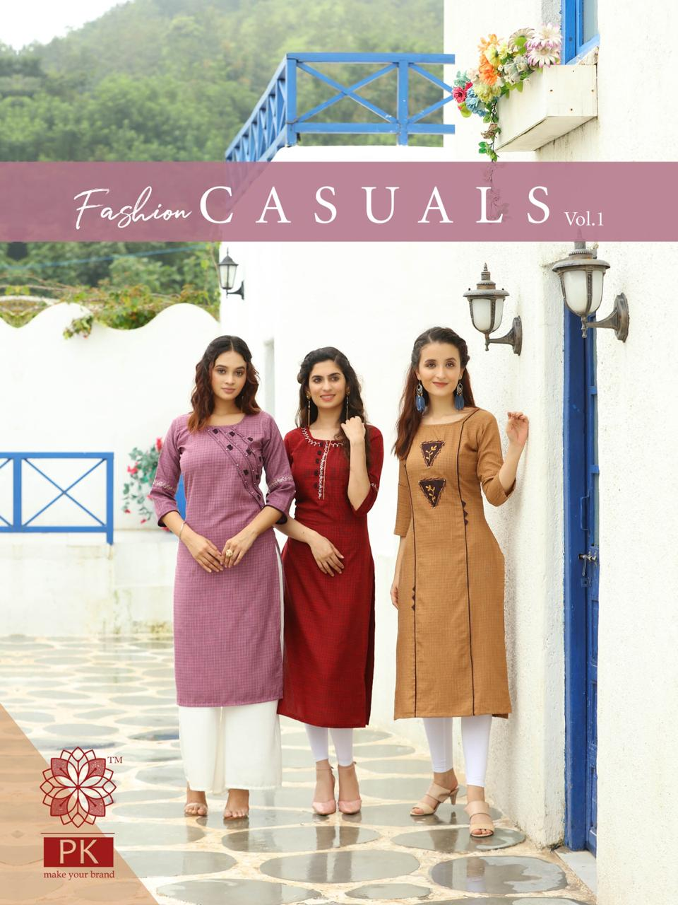 Pk Fashion Casuals Vol 1 Kurti Wholesale Catalog 6 Pcs 3 - Pk Fashion Casuals Vol 1 Kurti Wholesale Catalog 6 Pcs