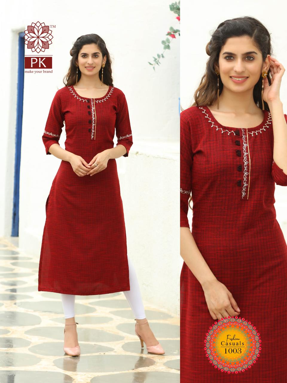 Pk Fashion Casuals Vol 1 Kurti Wholesale Catalog 6 Pcs 9 - Pk Fashion Casuals Vol 1 Kurti Wholesale Catalog 6 Pcs