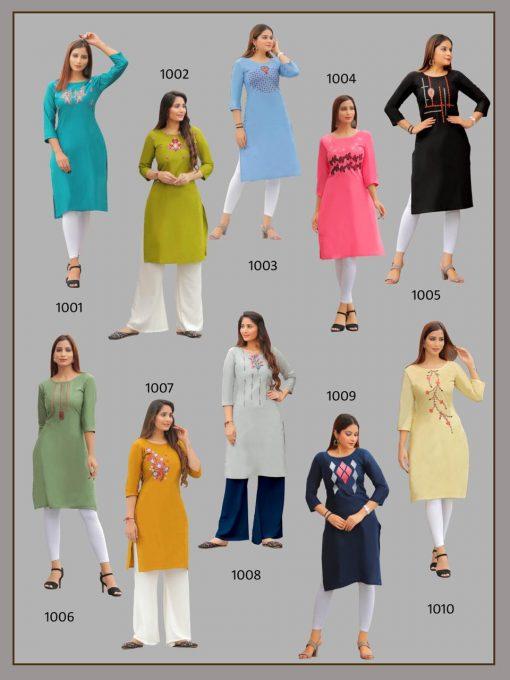 Pk Fashion Rainbow Vol 1 Kurti Wholesale Catalog 21 Pcs 25 510x680 - Pk Fashion Rainbow Vol 1 Kurti Wholesale Catalog 21 Pcs