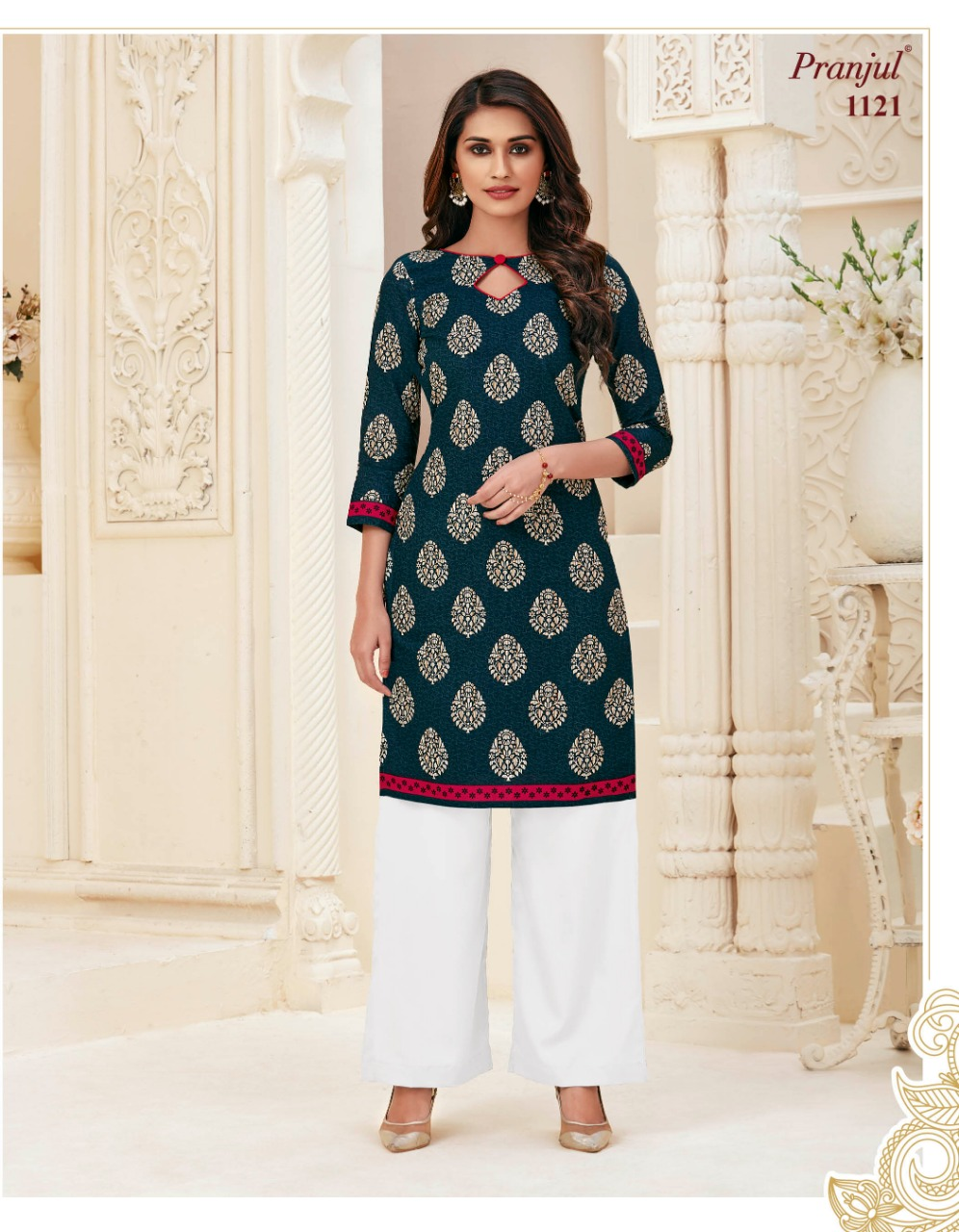 Pranjul Pari Vol 1 Kurti Wholesale Catalog 20 Pcs 2 - Pranjul Pari Vol 1 Kurti Wholesale Catalog 20 Pcs