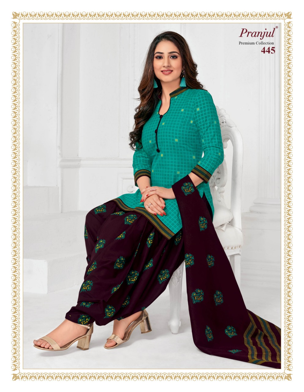 Pranjul Priyanka Vol 4 B Readymade Suit Wholesale Catalog 15 Pcs 17 - Pranjul Priyanka Vol 4 B Readymade Suit Wholesale Catalog 15 Pcs