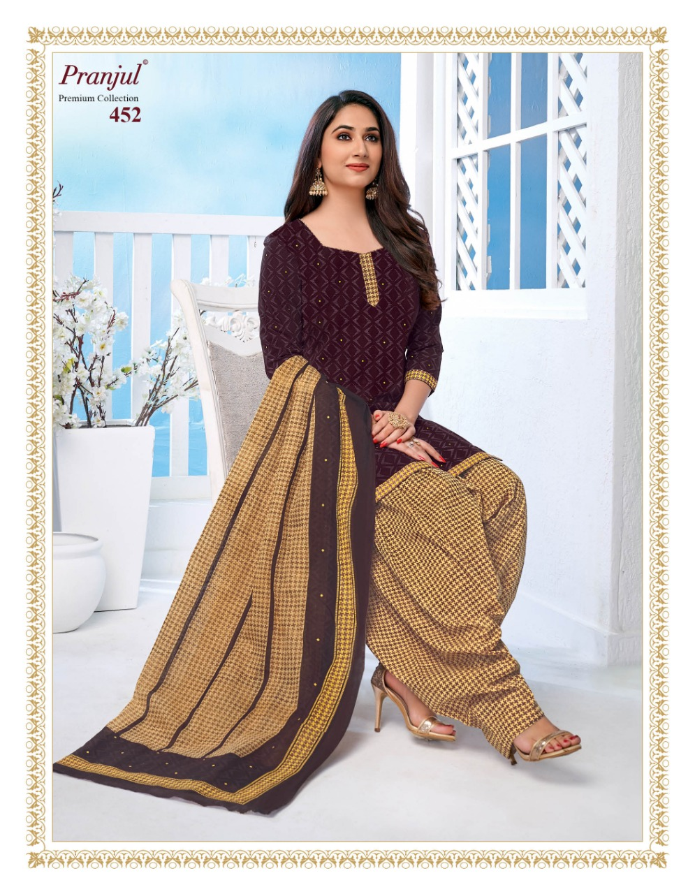 Pranjul Priyanka Vol 4 B Readymade Suit Wholesale Catalog 15 Pcs 18 - Pranjul Priyanka Vol 4 B Readymade Suit Wholesale Catalog 15 Pcs