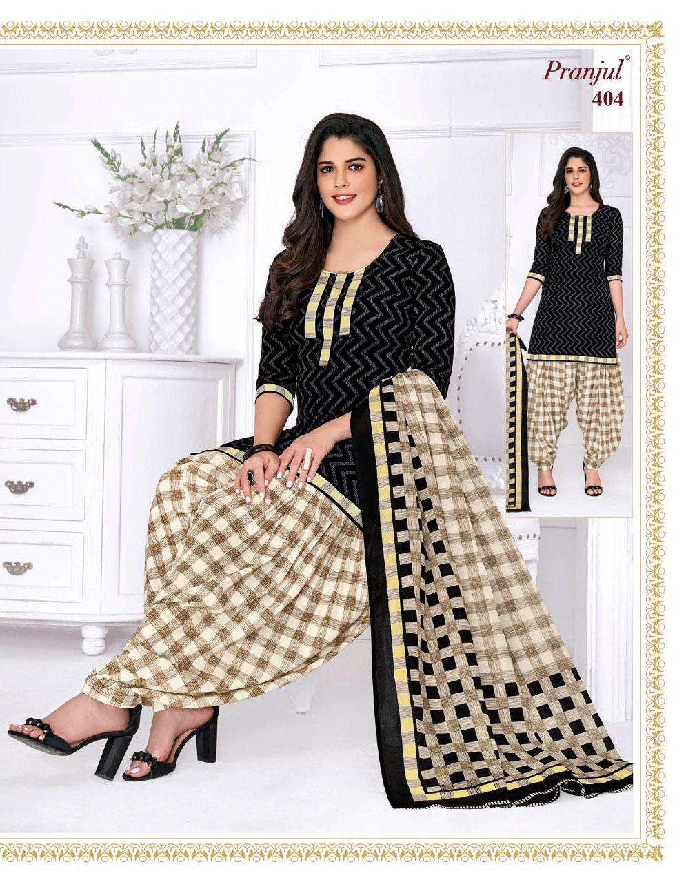 Pranjul Priyanka Vol 4 B Readymade Suit Wholesale Catalog 15 Pcs 8 - Pranjul Priyanka Vol 4 B Readymade Suit Wholesale Catalog 15 Pcs
