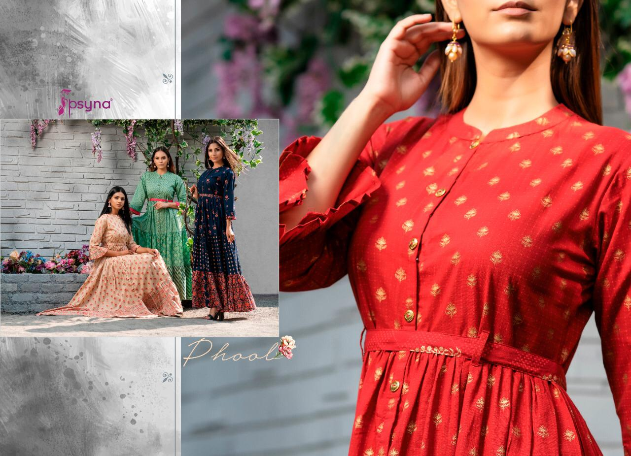 Psyna Phool Vol 3 Kurti Wholesale Catalog 7 Pcs 3 - Psyna Phool Vol 3 Kurti Wholesale Catalog 7 Pcs