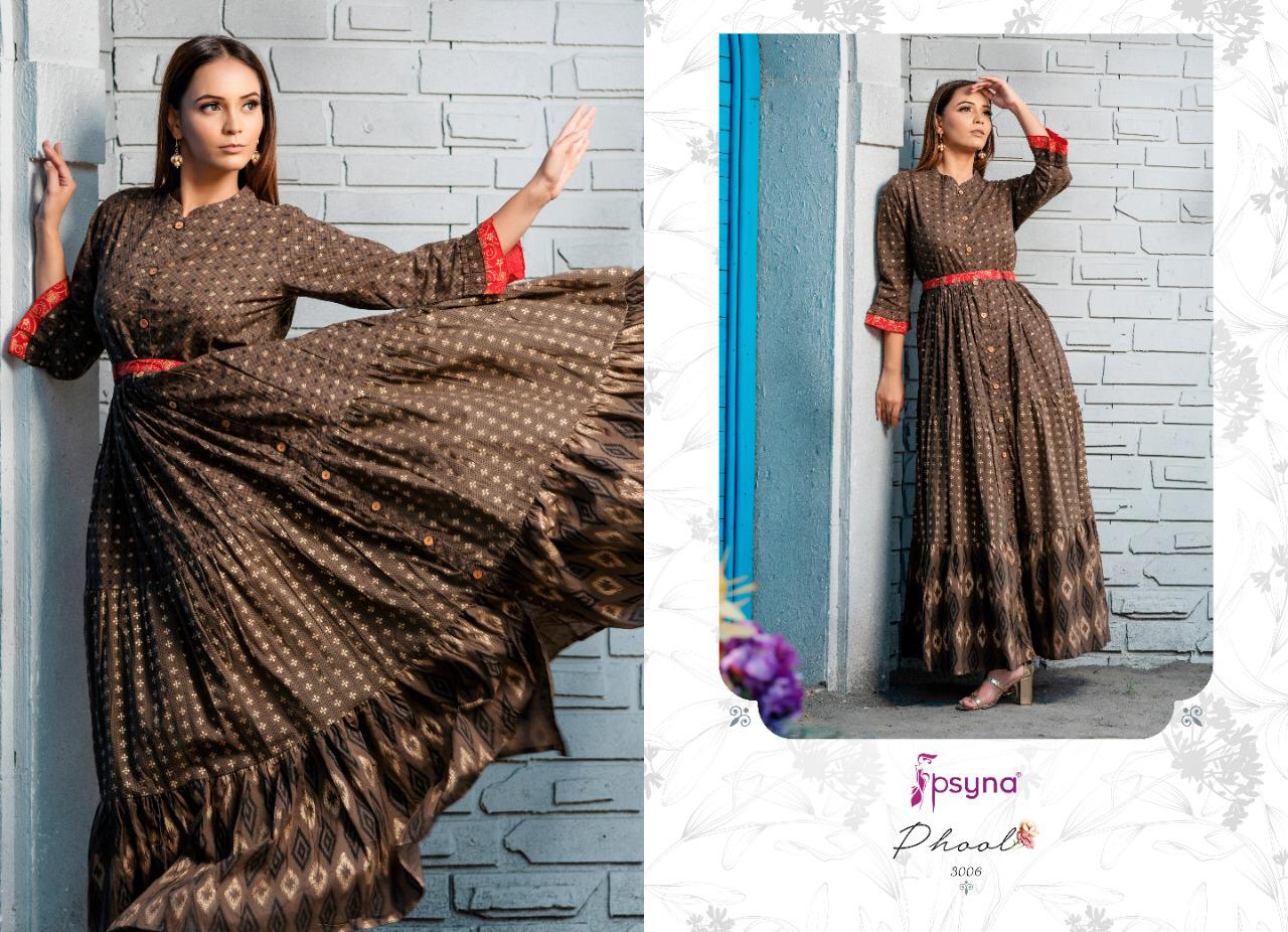 Psyna Phool Vol 3 Kurti Wholesale Catalog 7 Pcs 4 - Psyna Phool Vol 3 Kurti Wholesale Catalog 7 Pcs