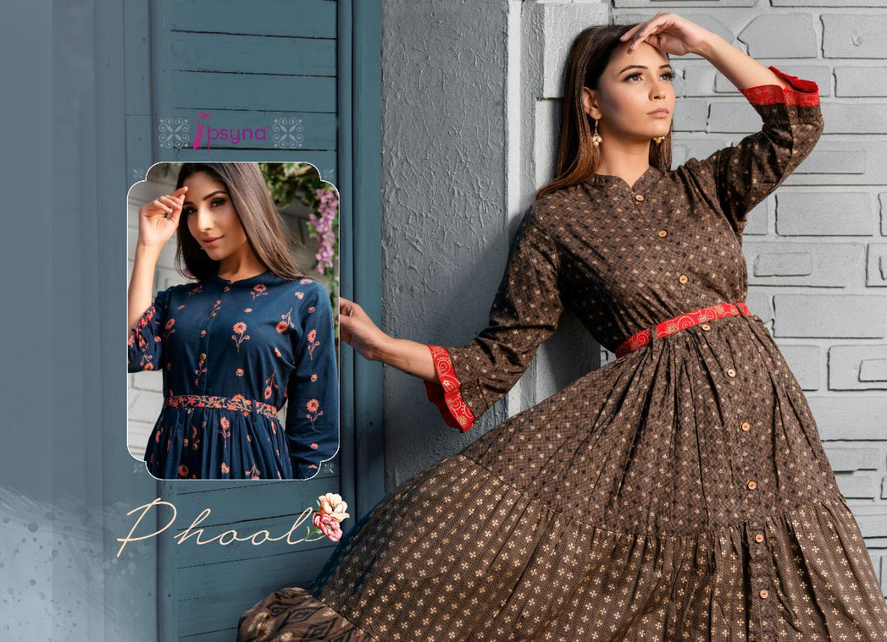 Psyna Phool Vol 3 Kurti Wholesale Catalog 7 Pcs 6 - Psyna Phool Vol 3 Kurti Wholesale Catalog 7 Pcs