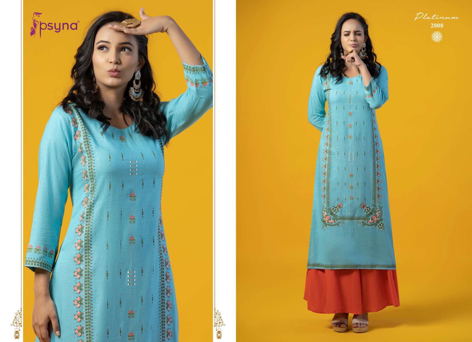 Psyna Platinum Vol 2 Kurti Wholesale Catalog 10 Pcs 10 - Psyna Platinum Vol 2 Kurti Wholesale Catalog 10 Pcs
