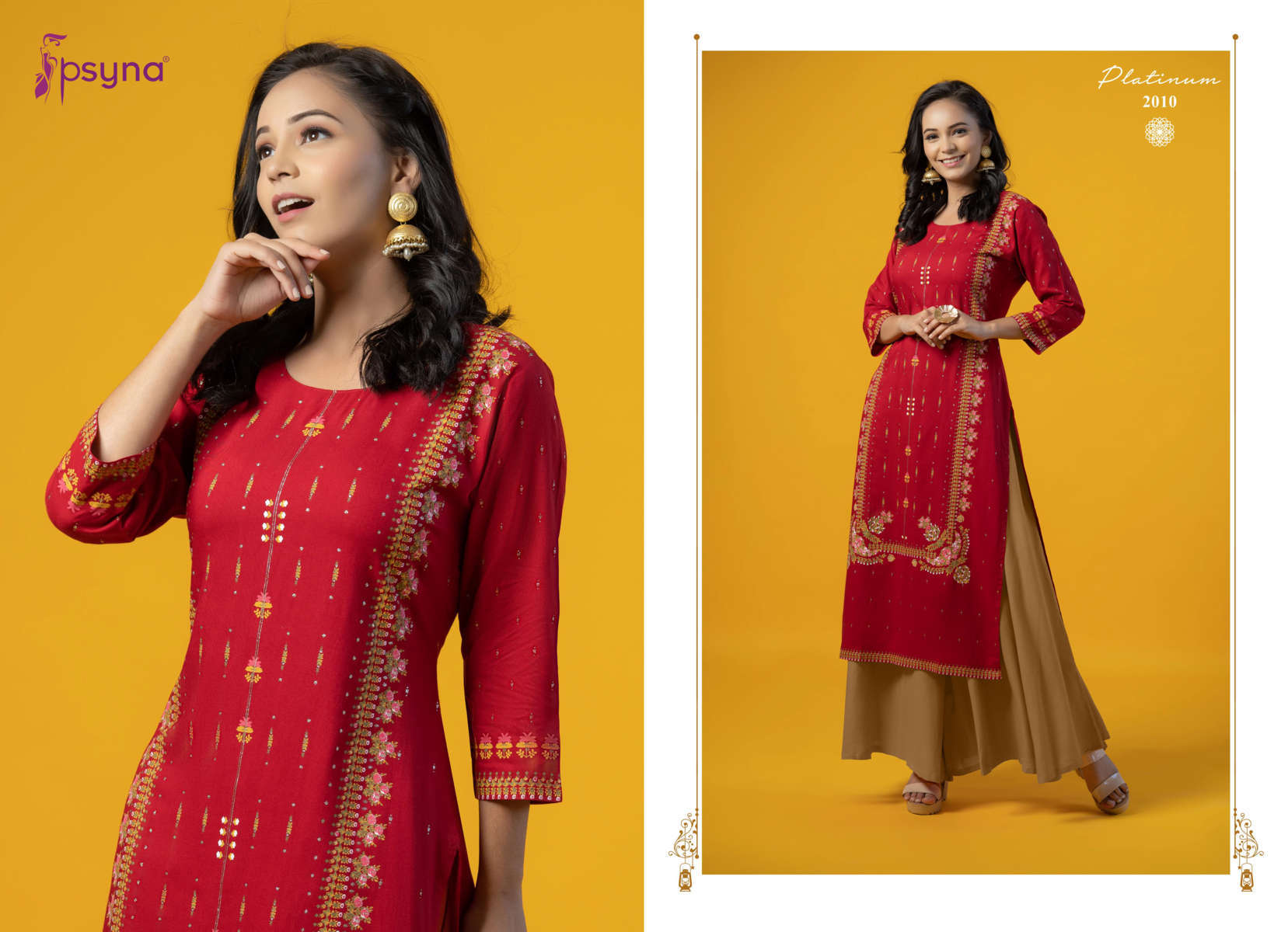Psyna Platinum Vol 2 Kurti Wholesale Catalog 10 Pcs 12 - Psyna Platinum Vol 2 Kurti Wholesale Catalog 10 Pcs