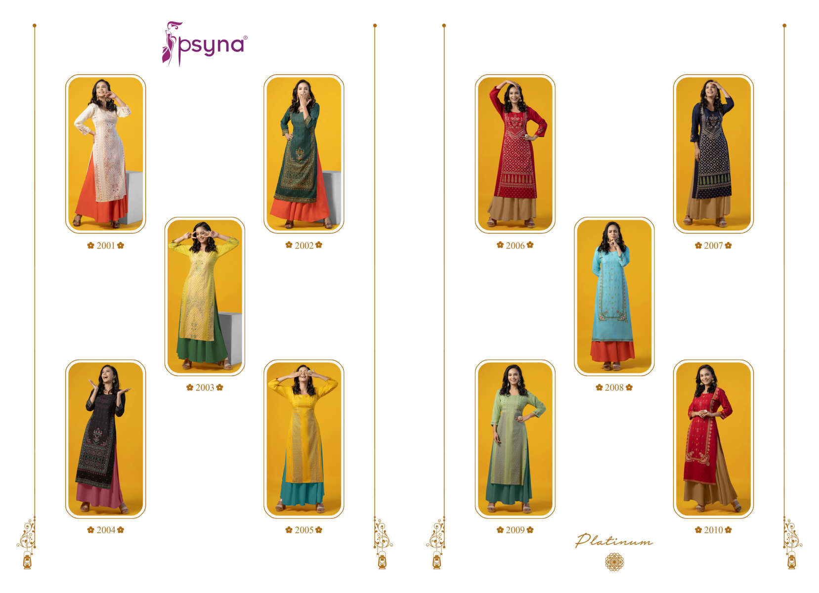 Psyna Platinum Vol 2 Kurti Wholesale Catalog 10 Pcs 13 - Psyna Platinum Vol 2 Kurti Wholesale Catalog 10 Pcs
