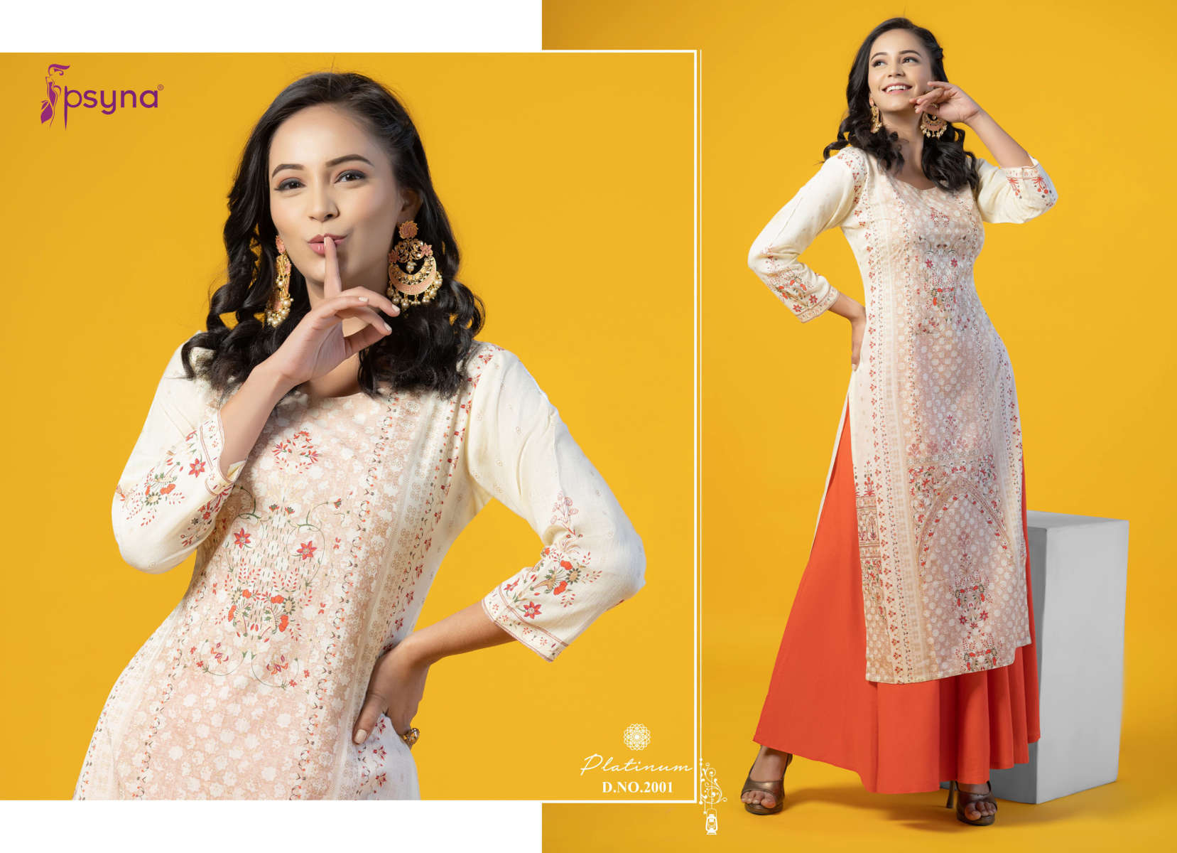 Psyna Platinum Vol 2 Kurti Wholesale Catalog 10 Pcs 2 - Psyna Platinum Vol 2 Kurti Wholesale Catalog 10 Pcs