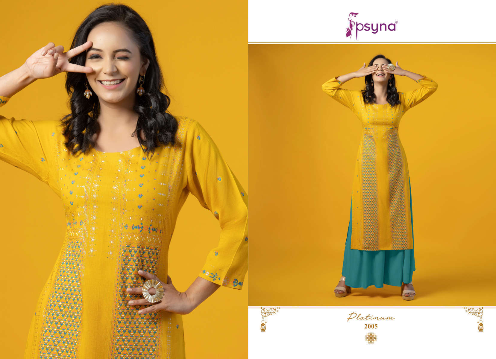 Psyna Platinum Vol 2 Kurti Wholesale Catalog 10 Pcs 6 - Psyna Platinum Vol 2 Kurti Wholesale Catalog 10 Pcs